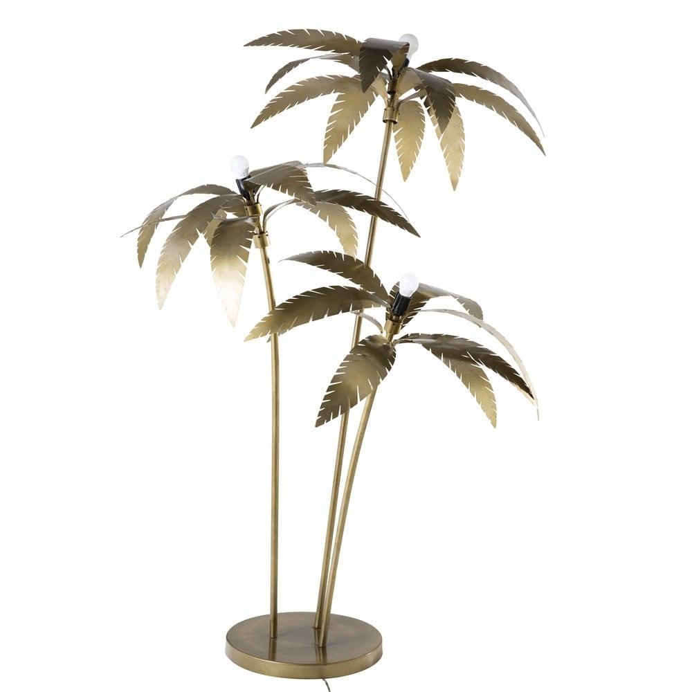 lampadaire palmiers en m tal dor h158 palmier maisons. Black Bedroom Furniture Sets. Home Design Ideas