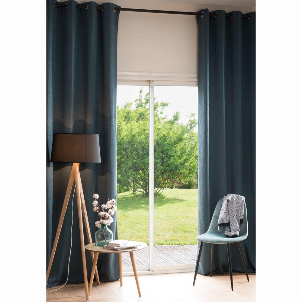 lampadaire tr pied en ch ne et abat jour noir h160 gatwick. Black Bedroom Furniture Sets. Home Design Ideas