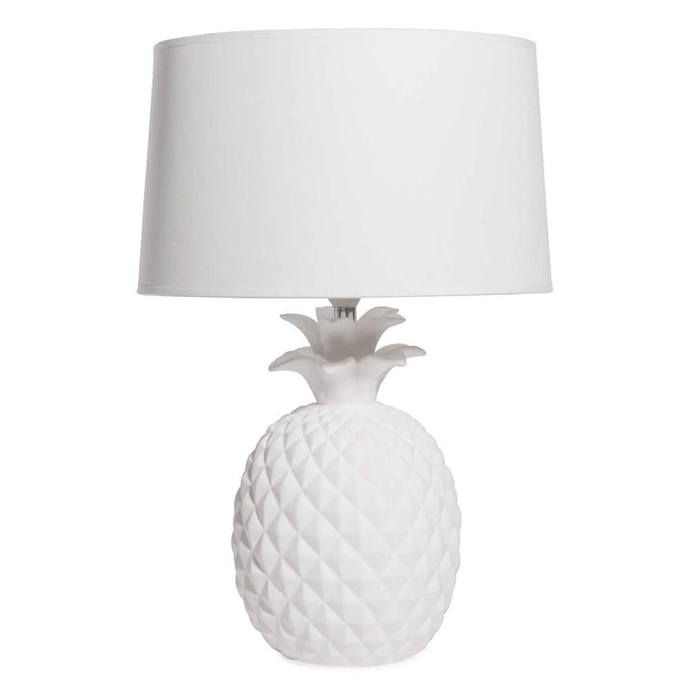 Lampe Ananas En Ceramique Blanche Victoria Maisons Du Monde
