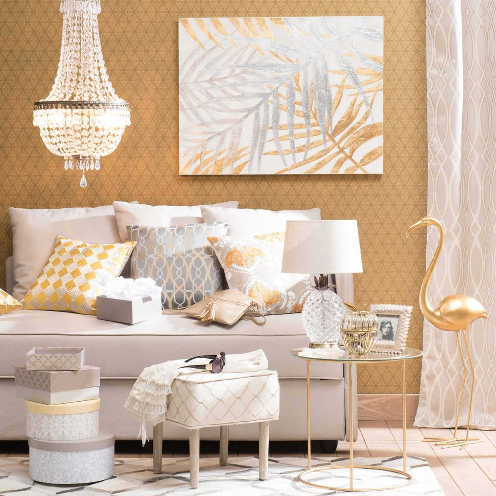 lampe ananas en verre abat jour beige malp maisons du monde. Black Bedroom Furniture Sets. Home Design Ideas