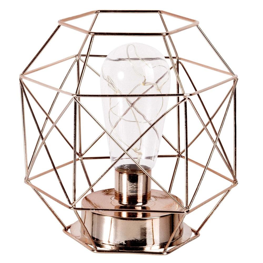 Lampe Aus Kupferfarbenem Metalldraht Maisons Du Monde