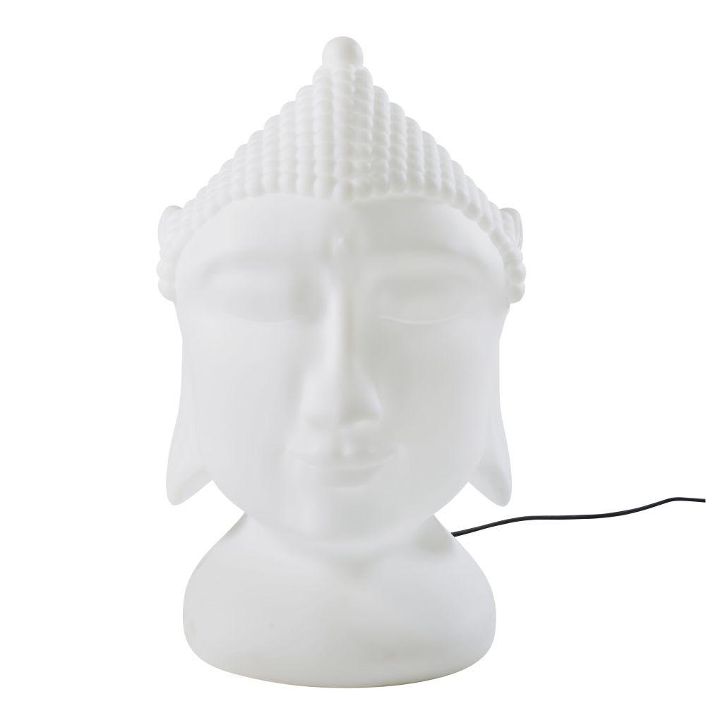 zen - lampe d'extérieur bouddha blanche
