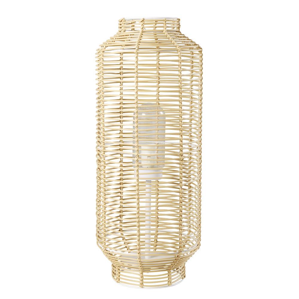 horizon - lampe d'extérieur tressée imitation fibre végétale