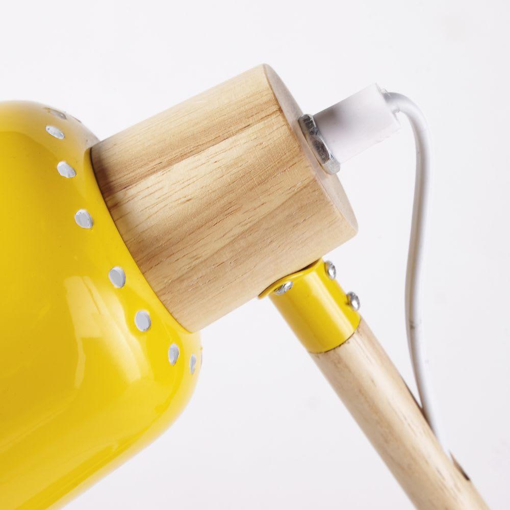 lampe de bureau en m tal jaune pixie maisons du monde. Black Bedroom Furniture Sets. Home Design Ideas