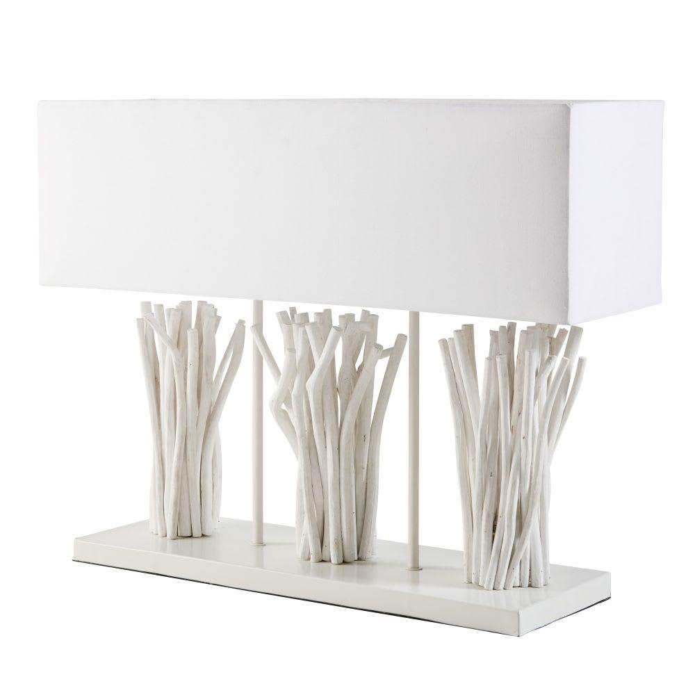 lampe en bois flott blanchi camargue maisons du monde. Black Bedroom Furniture Sets. Home Design Ideas