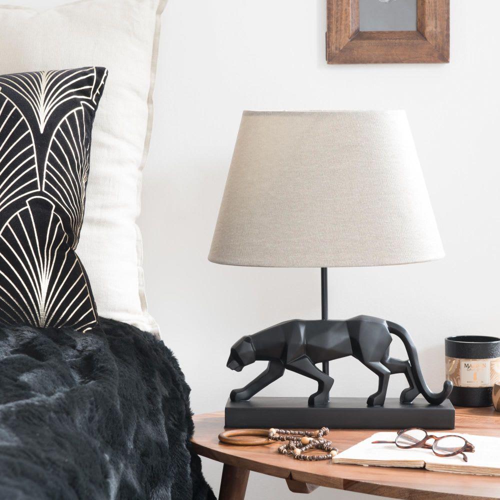 lampe panth re noire black pantera maisons du monde. Black Bedroom Furniture Sets. Home Design Ideas