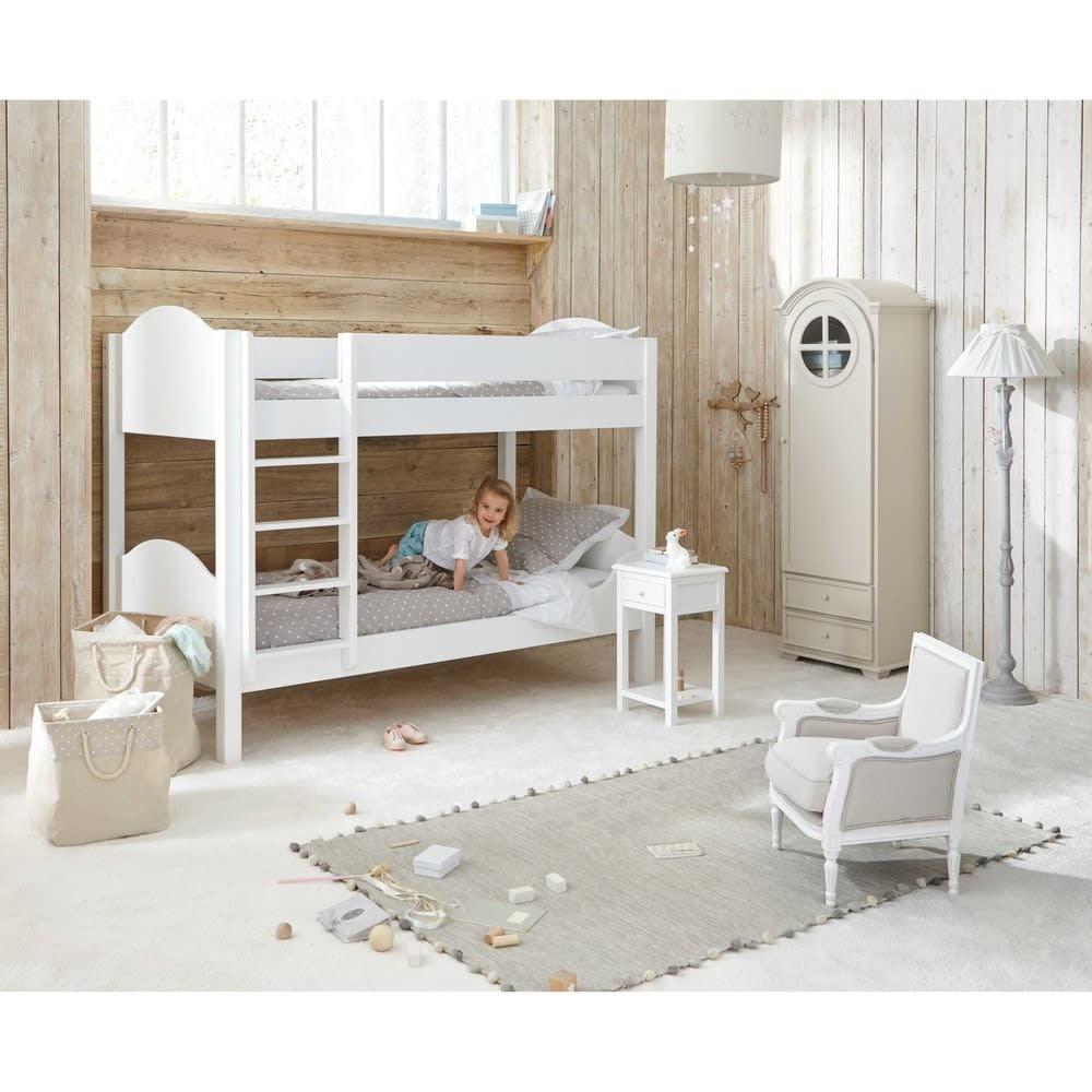 Letto a castello bianco 90 x 190 cm Pastel   Maisons du Monde