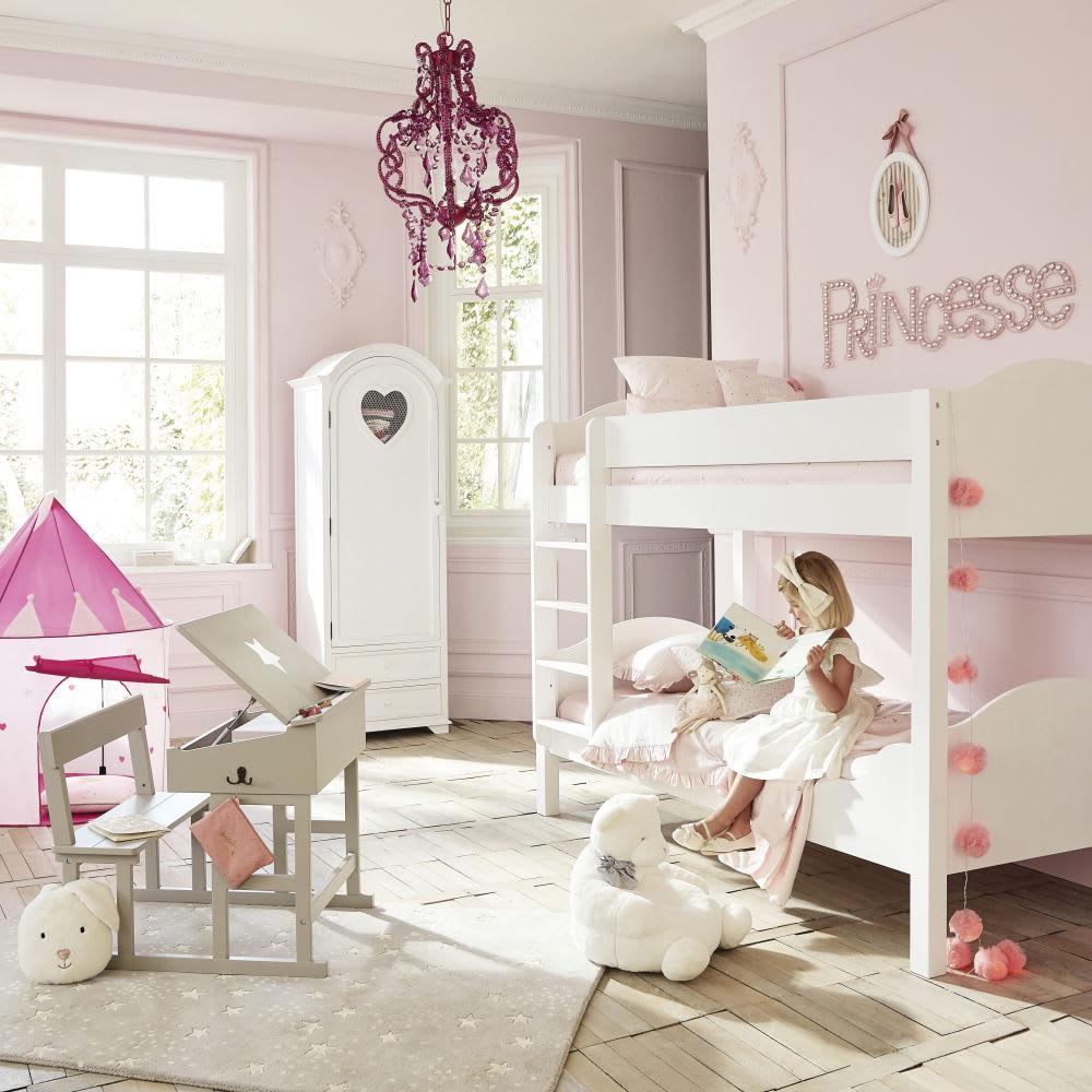 Letto a castello bianco 90 x 190 cm Pastel | Maisons du Monde