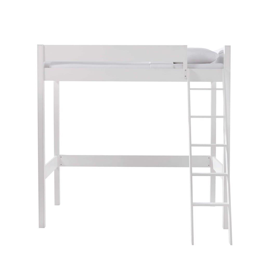 Letto a soppalco 90 x 190 cm bianco Newport | Maisons du Monde