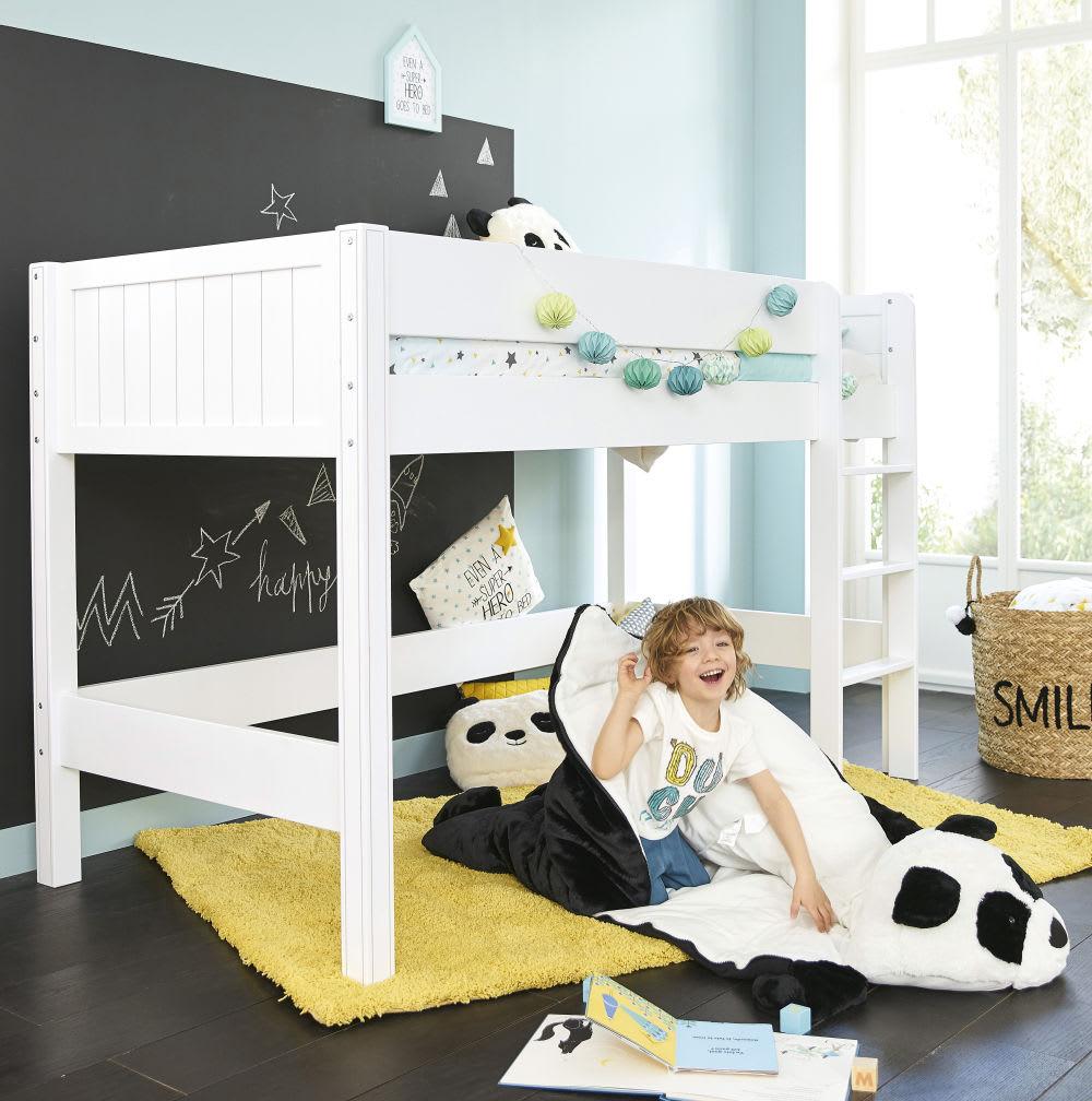 Letto a soppalco bianco per bambini 90x190 cm Tonic | Maisons du Monde