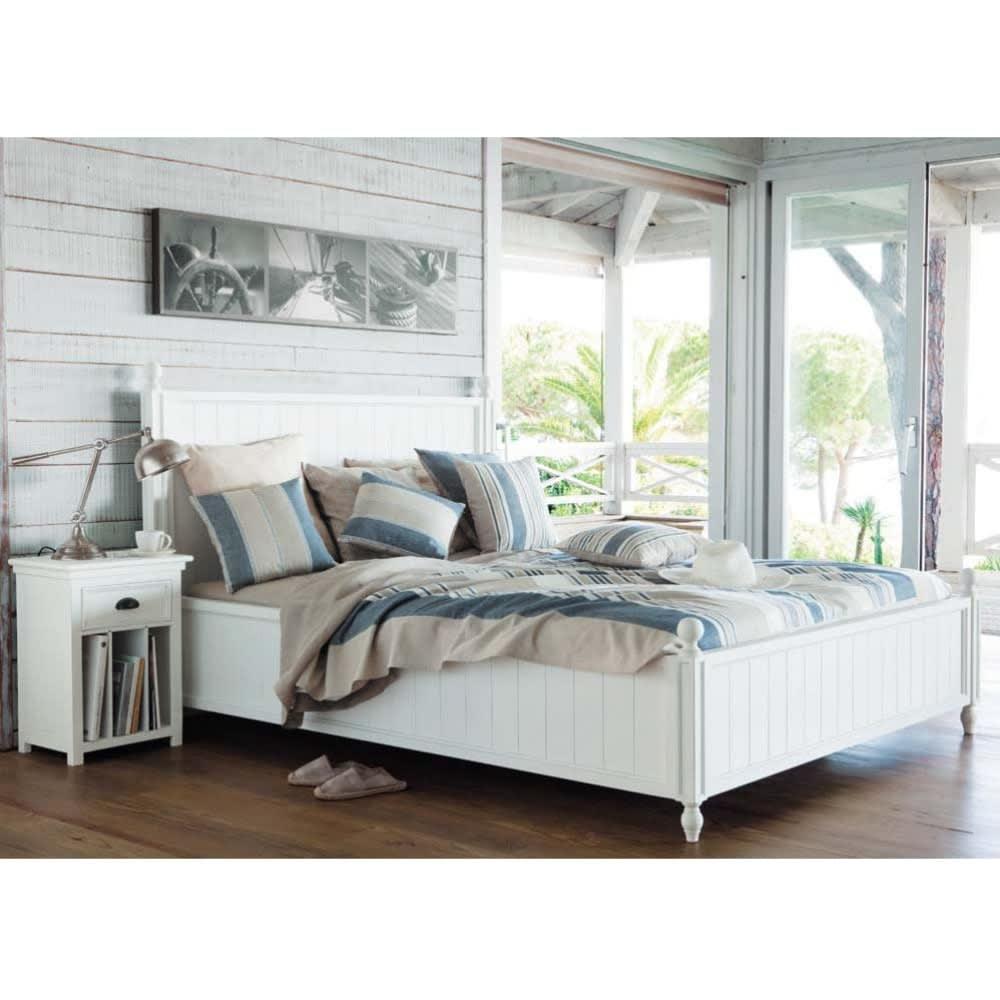 Letto bianco 160 x 200 in pino newport maisons du monde - Testate letto maison du monde ...