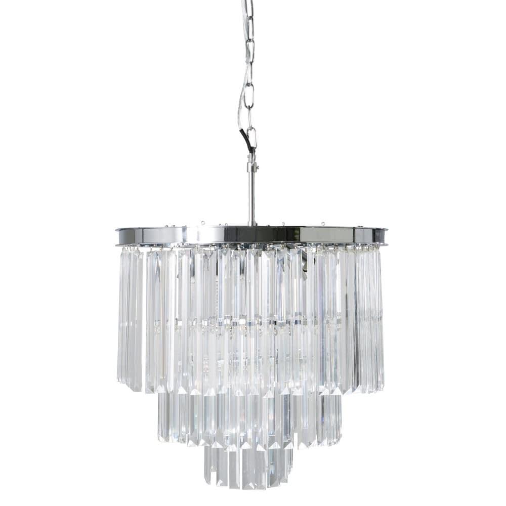 Leuchter aus verchromtem Metall mit Glasbehang Palacio | Maisons du ...