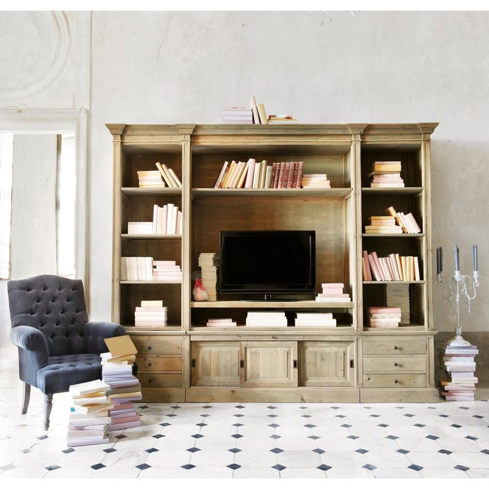 Libreria porta-TV in pino massiccio riciclato Passy | Maisons du Monde