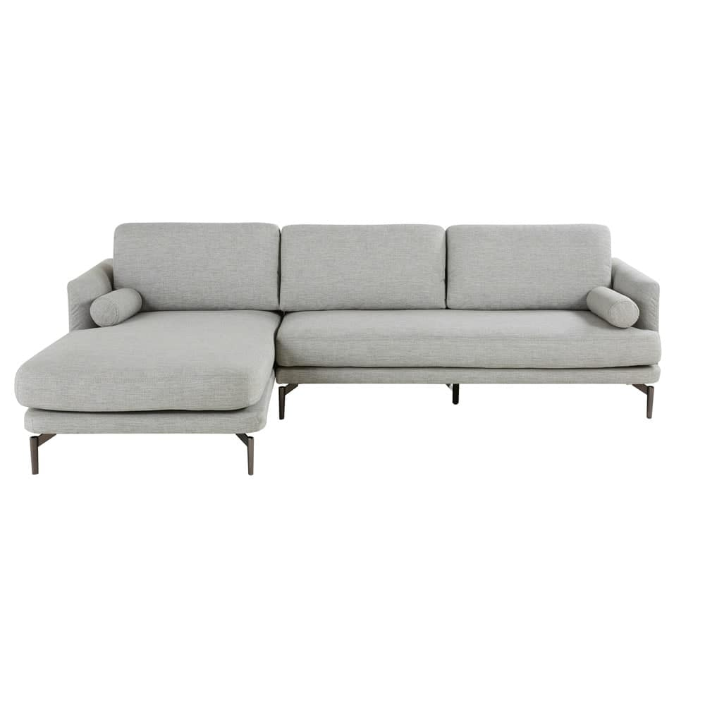 Light Grey 5 Seater Left Hand Corner Sofa Alaska