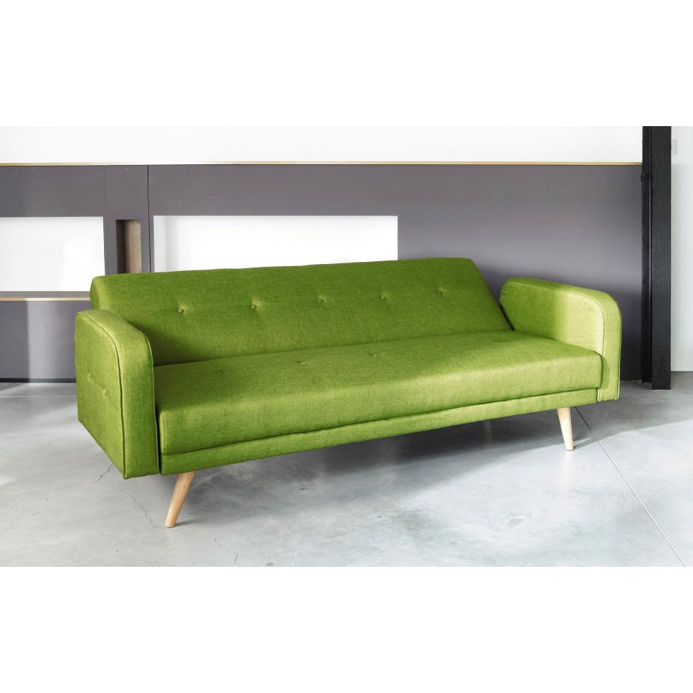 Lime Green 3 Seater Clic Clac Sofa Bed Broadway