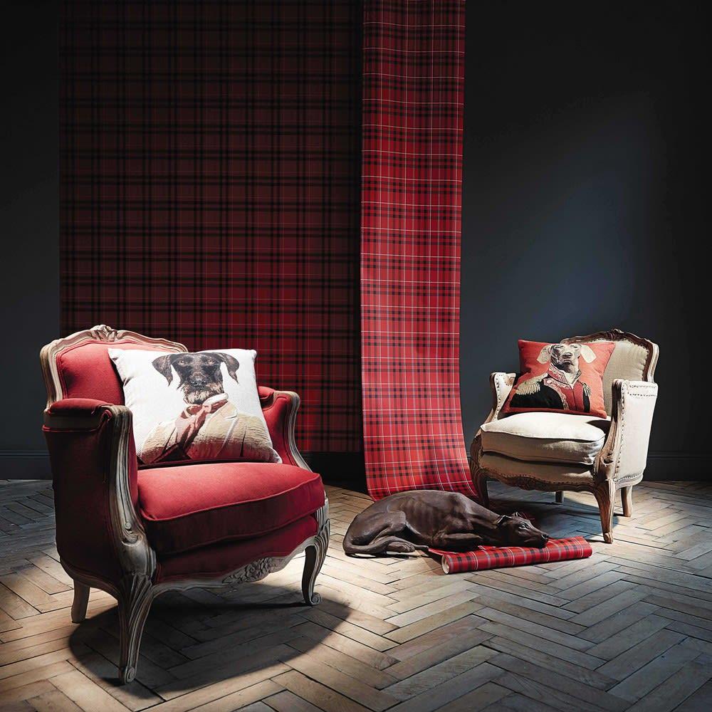 Linen armchair Maupassant | Maisons du Monde