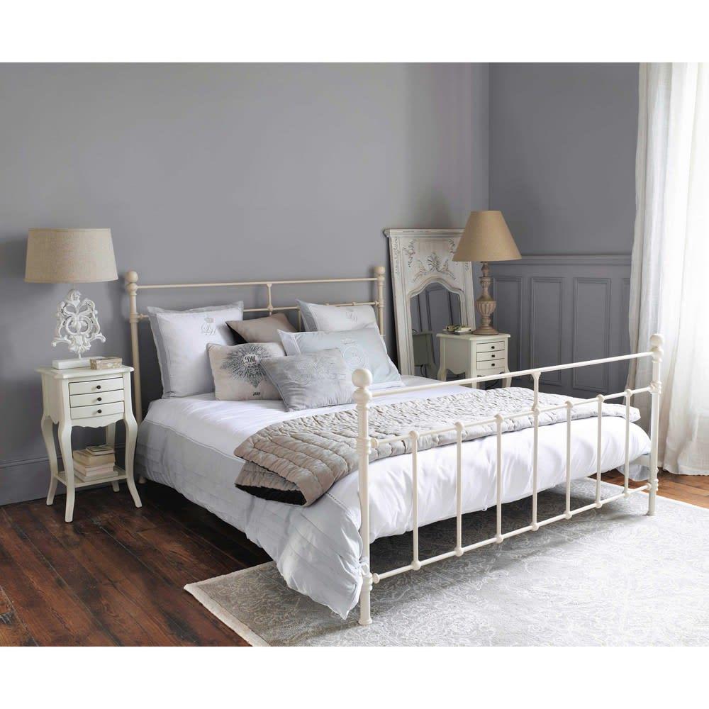 lit 160x200 en m tal blanc syracuse maisons du monde. Black Bedroom Furniture Sets. Home Design Ideas