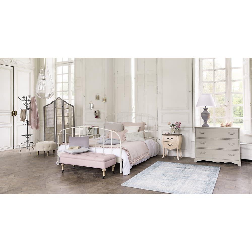 lit 160x200 en m tal blanc sixtine maisons du monde. Black Bedroom Furniture Sets. Home Design Ideas