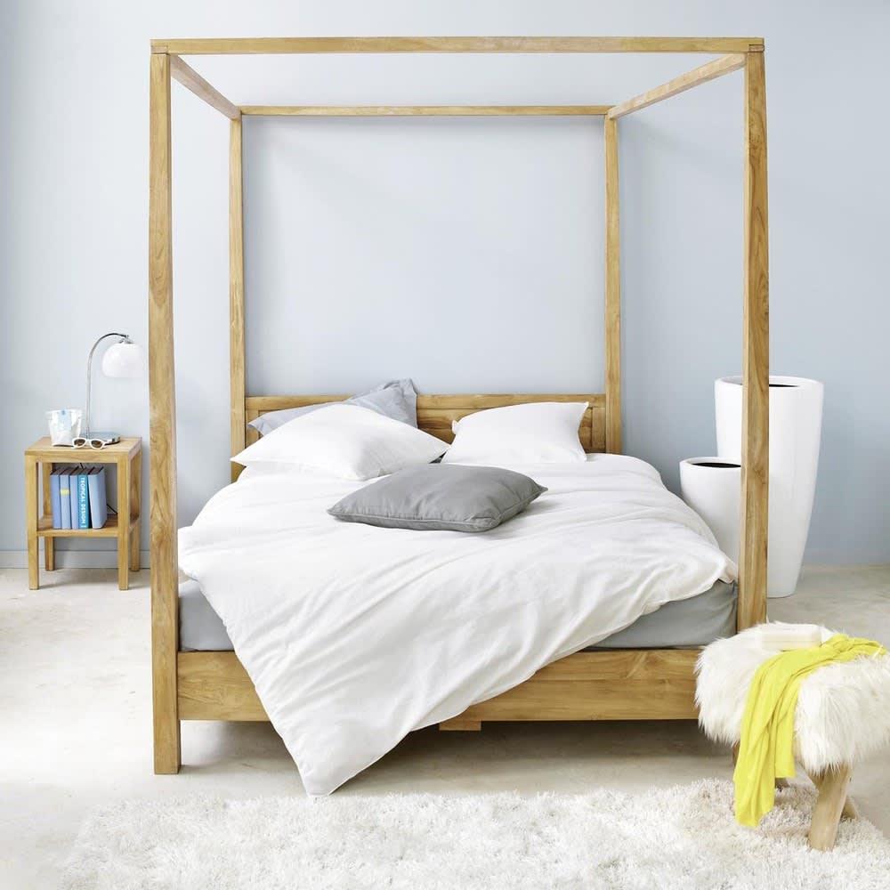 lit baldaquin 160x200 en acacia amsterdam maisons du monde. Black Bedroom Furniture Sets. Home Design Ideas