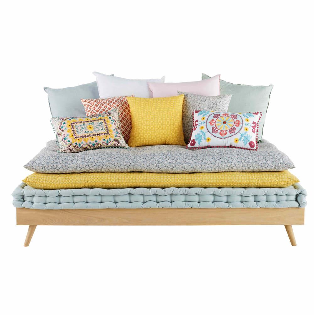 lit banquette 90x190 sixties maisons du monde. Black Bedroom Furniture Sets. Home Design Ideas