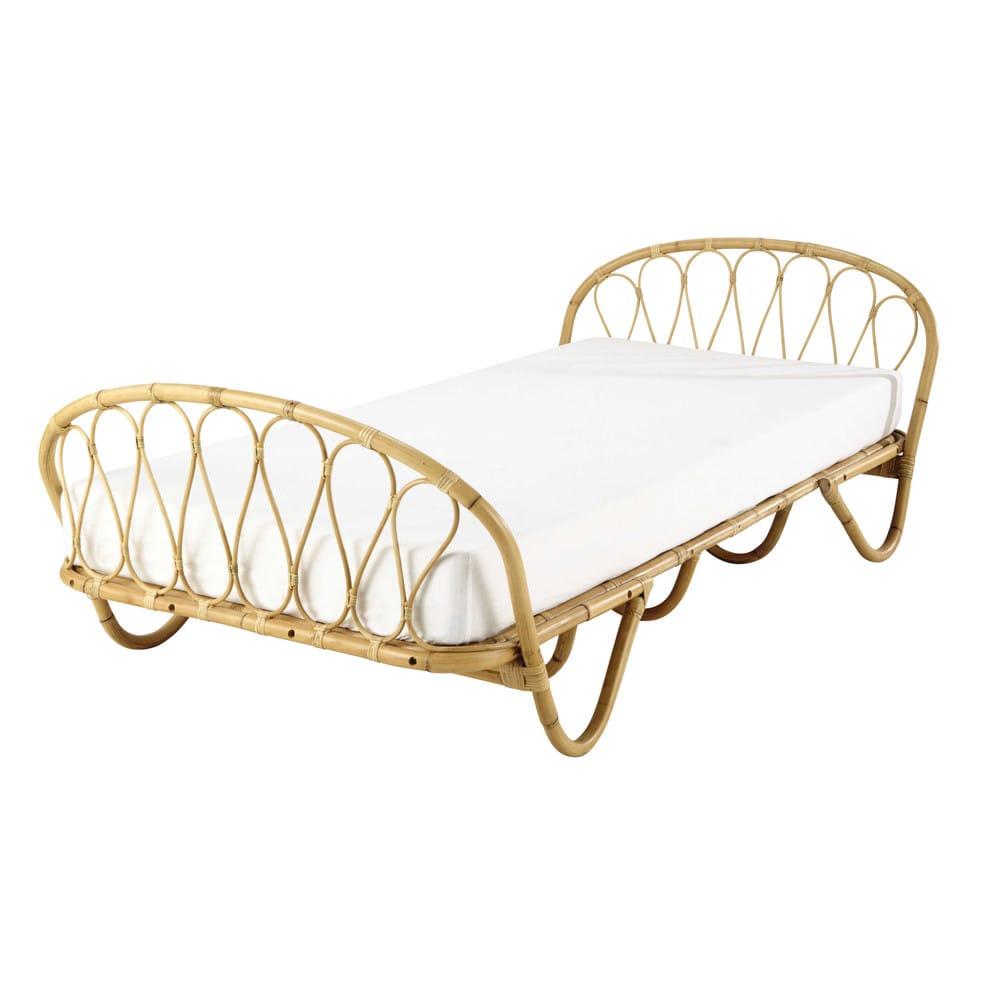 lit banquette 90x190 en rotin suzane maisons du monde. Black Bedroom Furniture Sets. Home Design Ideas