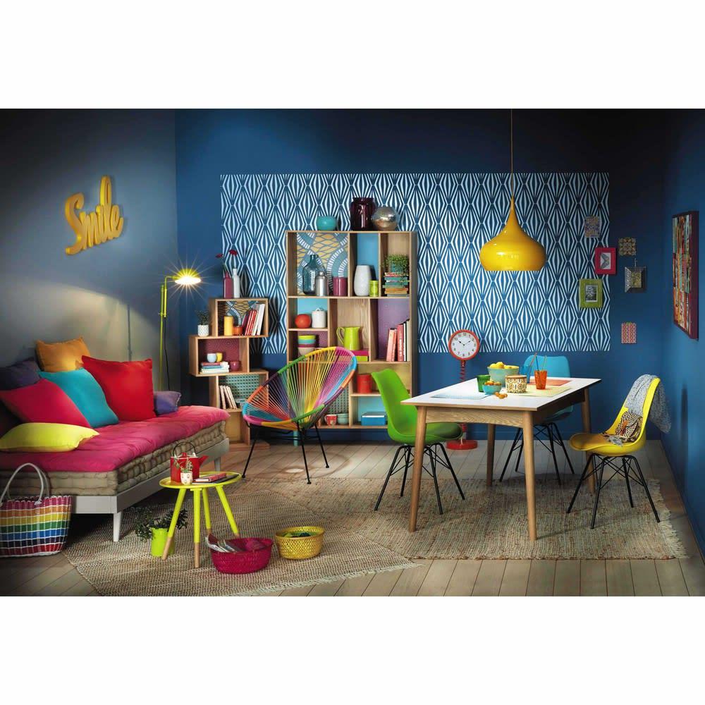 lit banquette style scandinave 90x190 en pin gris sixties maisons du monde. Black Bedroom Furniture Sets. Home Design Ideas