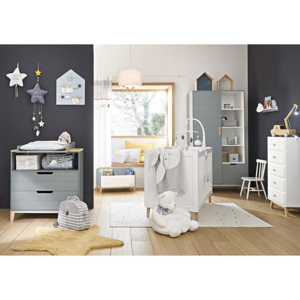 lit b b barreaux blanc l126 sweet maisons du monde. Black Bedroom Furniture Sets. Home Design Ideas