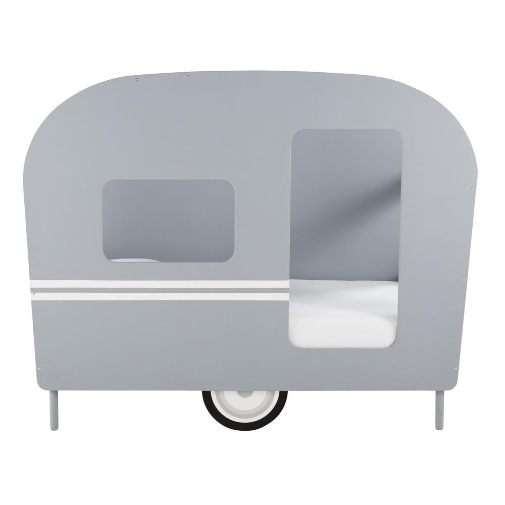 Lit Caravane Enfant 90x190 Gris Petit Bolide