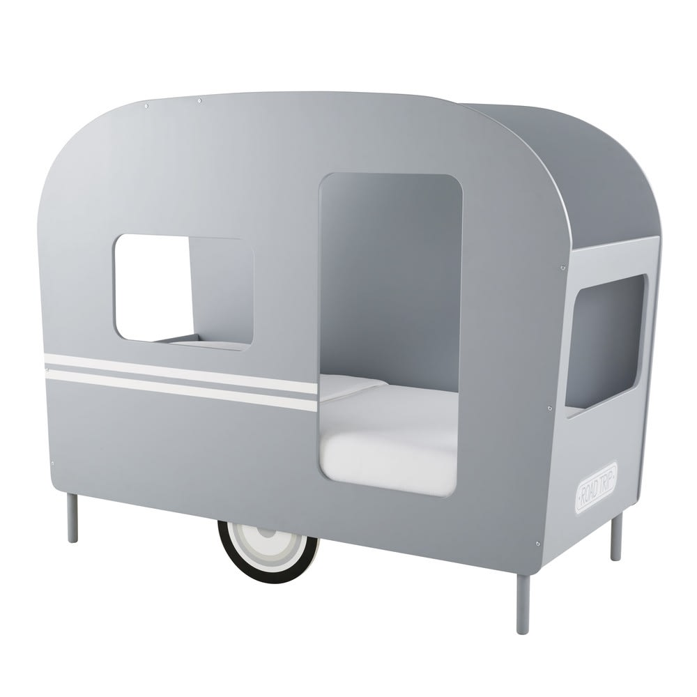 Lit caravane enfant 90x190 gris Petit Bolide   Maisons du Monde 4a26ee277ae