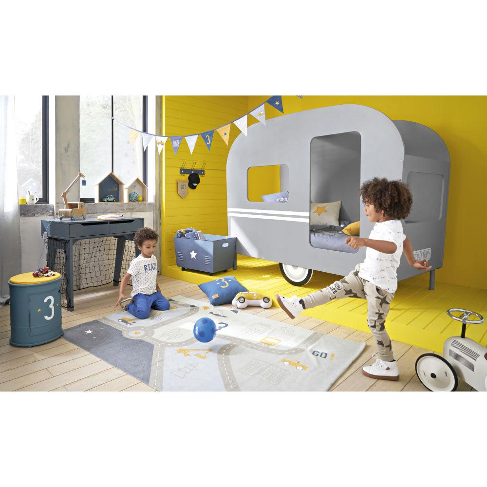 6fe92d2631dbf6 Lit caravane enfant 90x190 gris Petit Bolide   Maisons du Monde