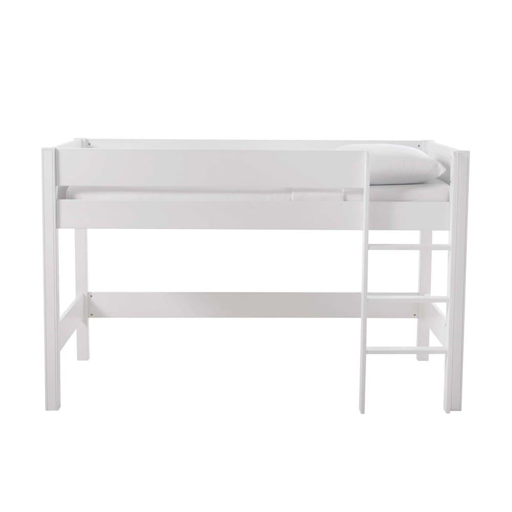 Lit Mezzanine Enfant 90x190 Blanc Tonic Maisons Du Monde