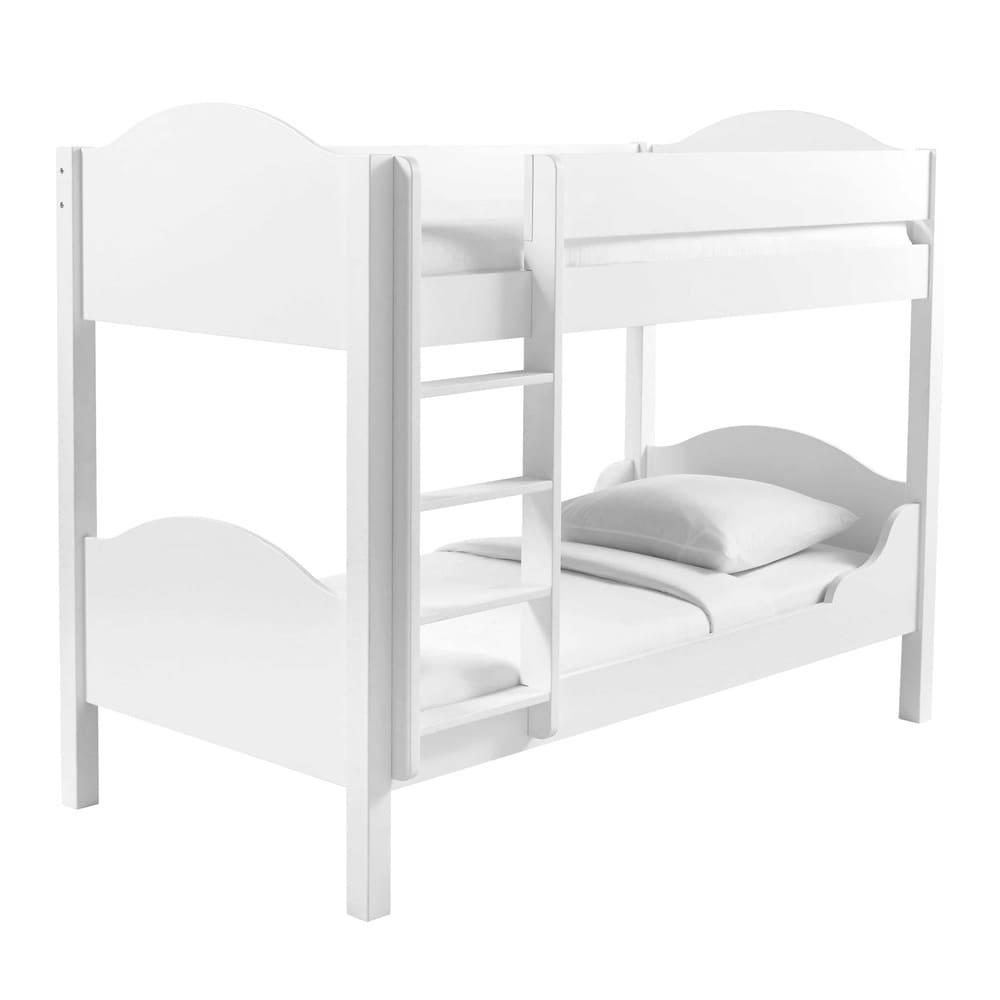 lit superpos 90x190 blanc pastel maisons du monde. Black Bedroom Furniture Sets. Home Design Ideas