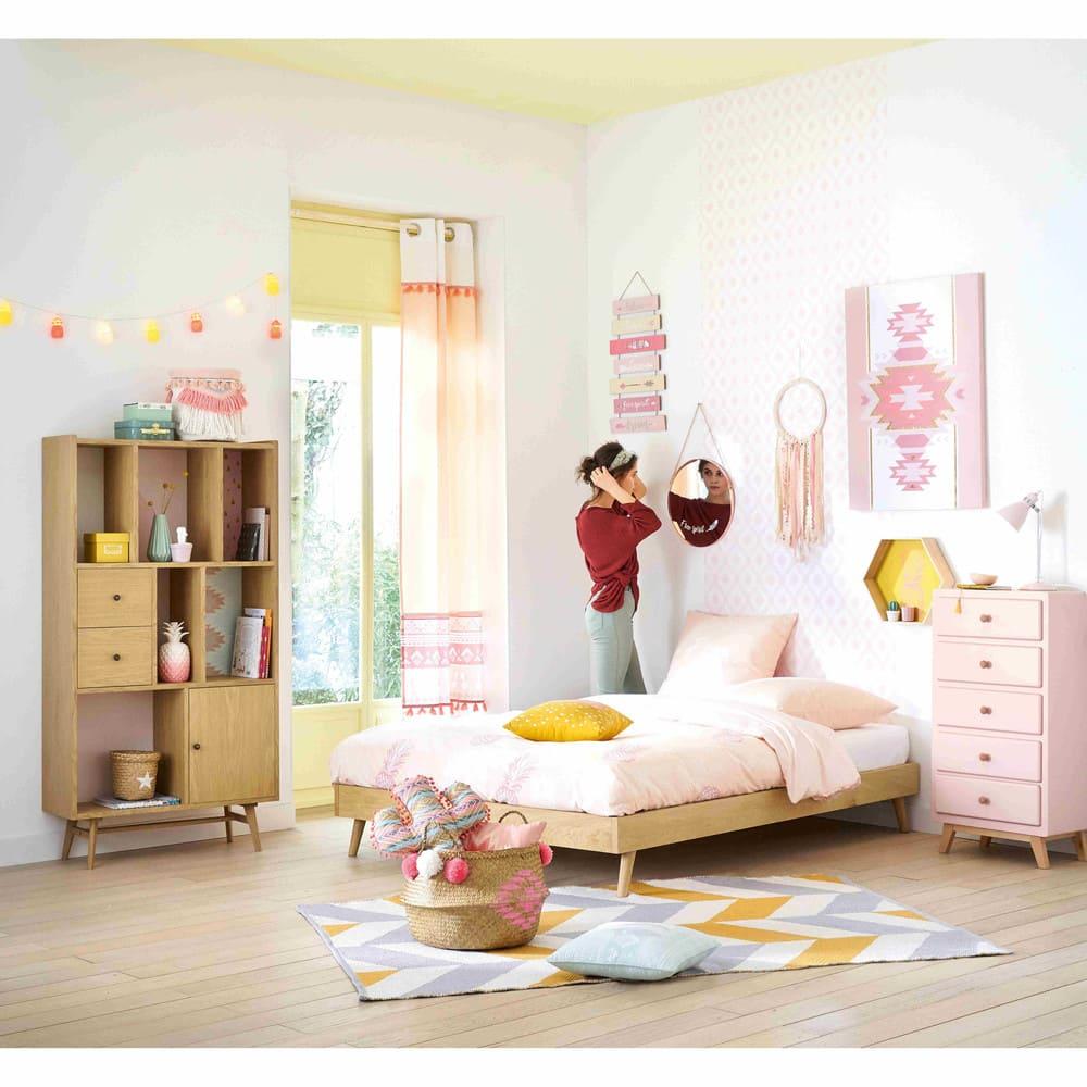 lit vintage 140x190 avec sommier lattes sixties. Black Bedroom Furniture Sets. Home Design Ideas