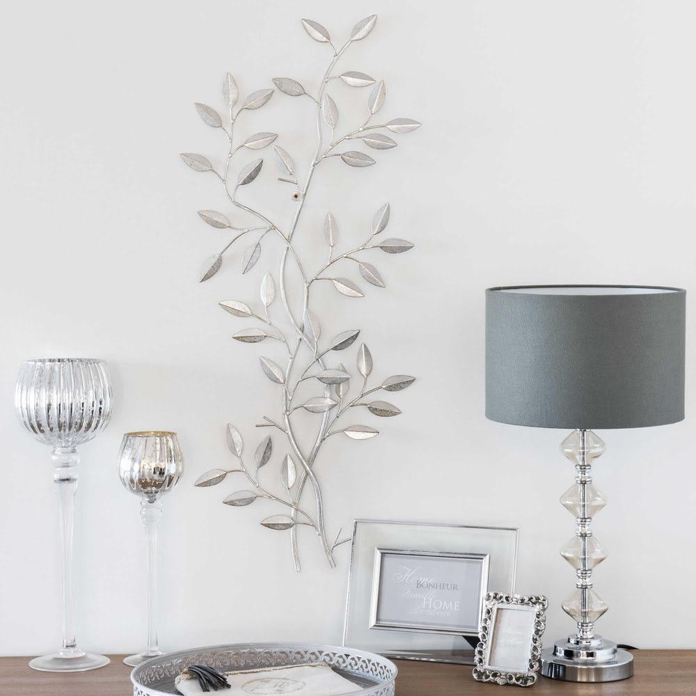 lorbeer wanddeko aus metall 33x76 laurier maisons du monde. Black Bedroom Furniture Sets. Home Design Ideas