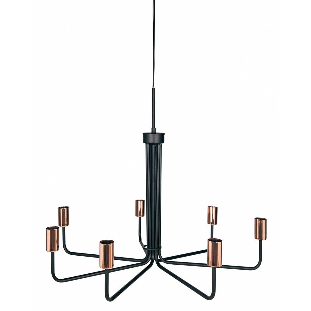 betty - lustre 7 branches en métal noir d.81cm