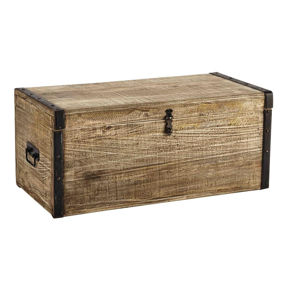 malle en manguier kaelig maisons du monde. Black Bedroom Furniture Sets. Home Design Ideas