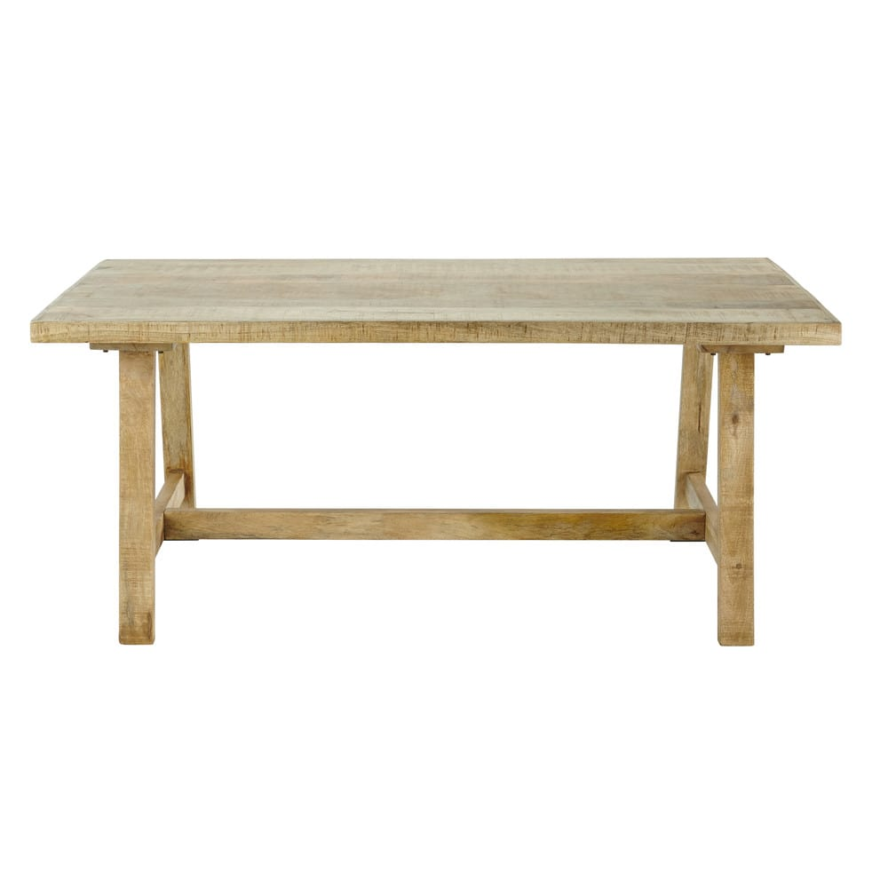 Mango Wood 6 8 Seater Dining Table L180 Farmers Maisons Du Monde