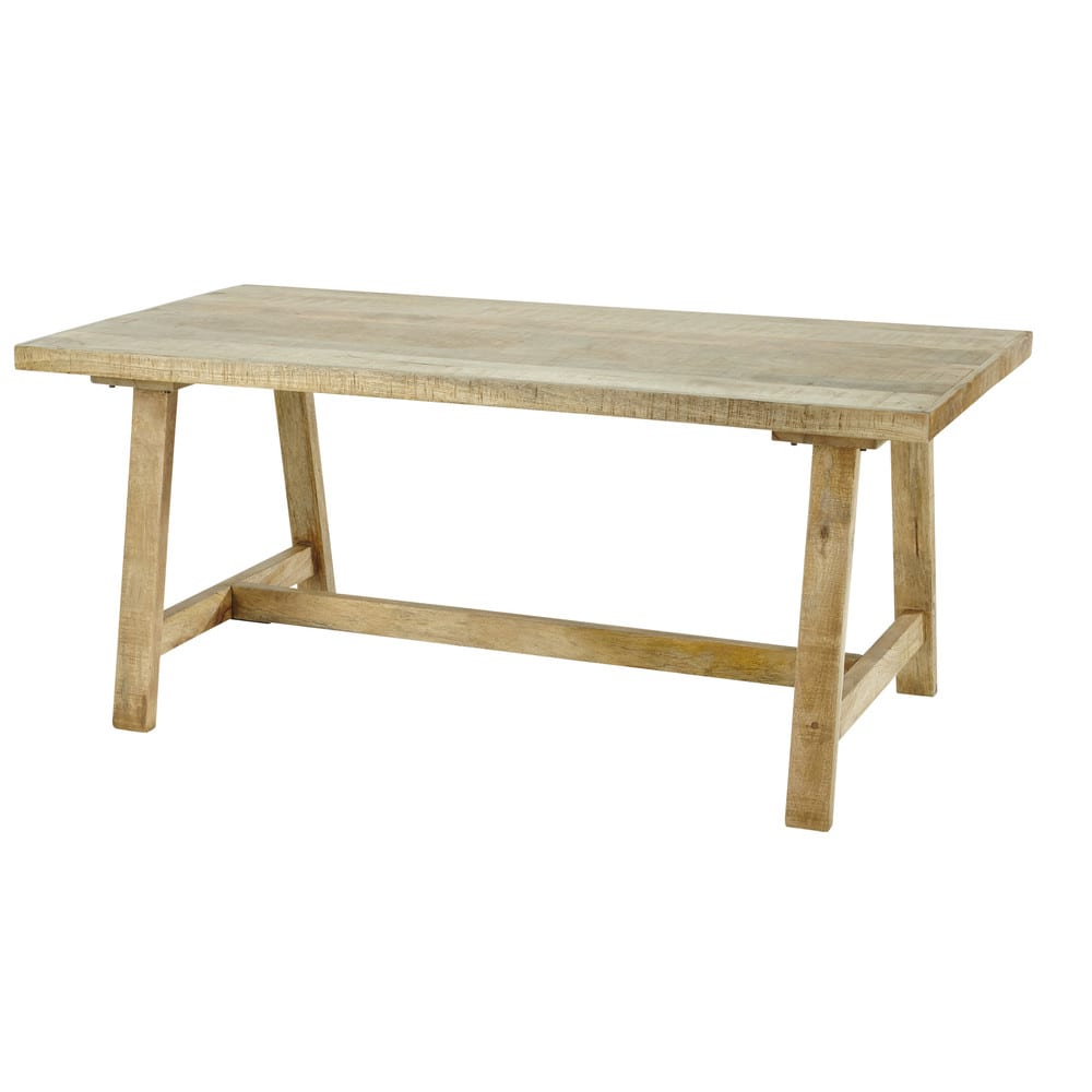 Mango wood 6 8 seater dining table l180 farmers