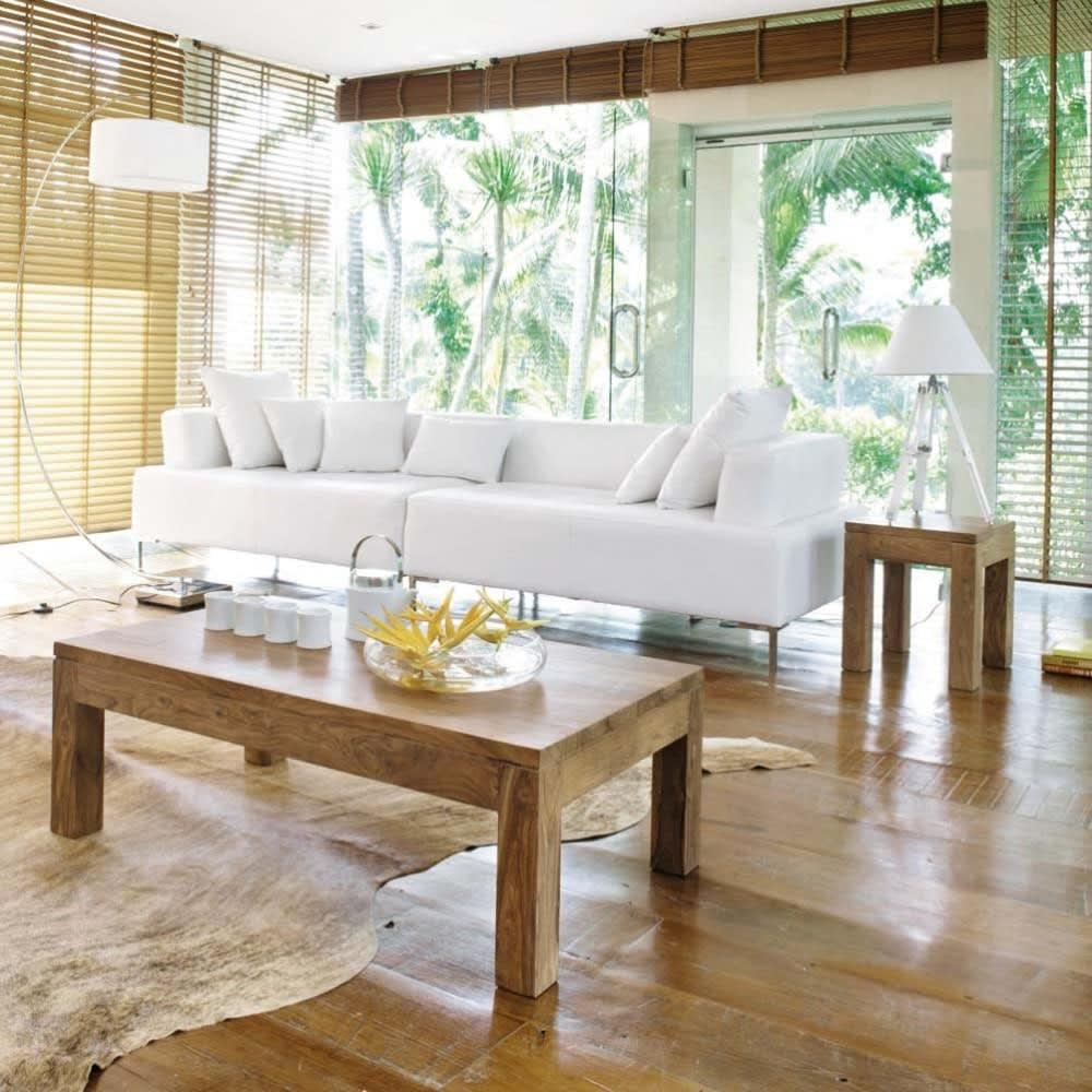 massief sheeshamhouten bijzettafel stockholm maisons du monde. Black Bedroom Furniture Sets. Home Design Ideas
