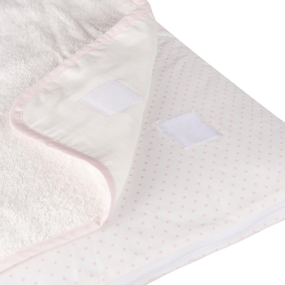 matelas langer b b en coton rose et blanc capucine maisons du monde. Black Bedroom Furniture Sets. Home Design Ideas
