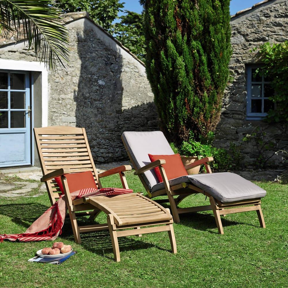 matelas chaise longue gris ol ron maisons du monde. Black Bedroom Furniture Sets. Home Design Ideas