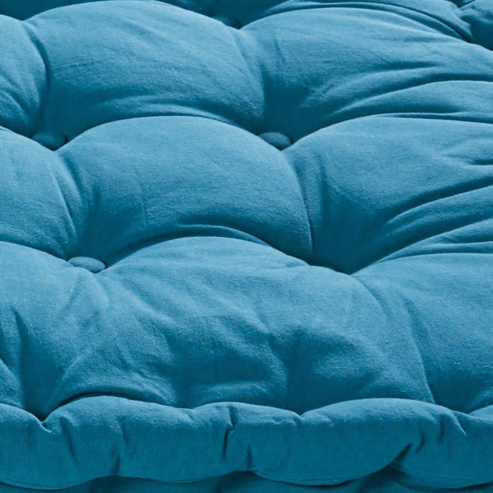 matelas en coton bleu p trole 90x190 maisons du monde. Black Bedroom Furniture Sets. Home Design Ideas