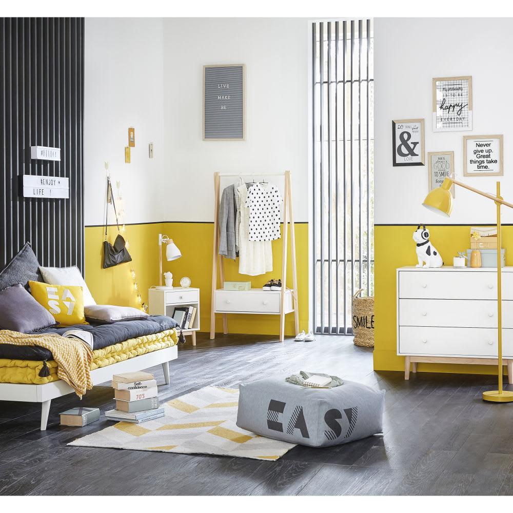 matelas en coton moutarde 90x190 maisons du monde. Black Bedroom Furniture Sets. Home Design Ideas