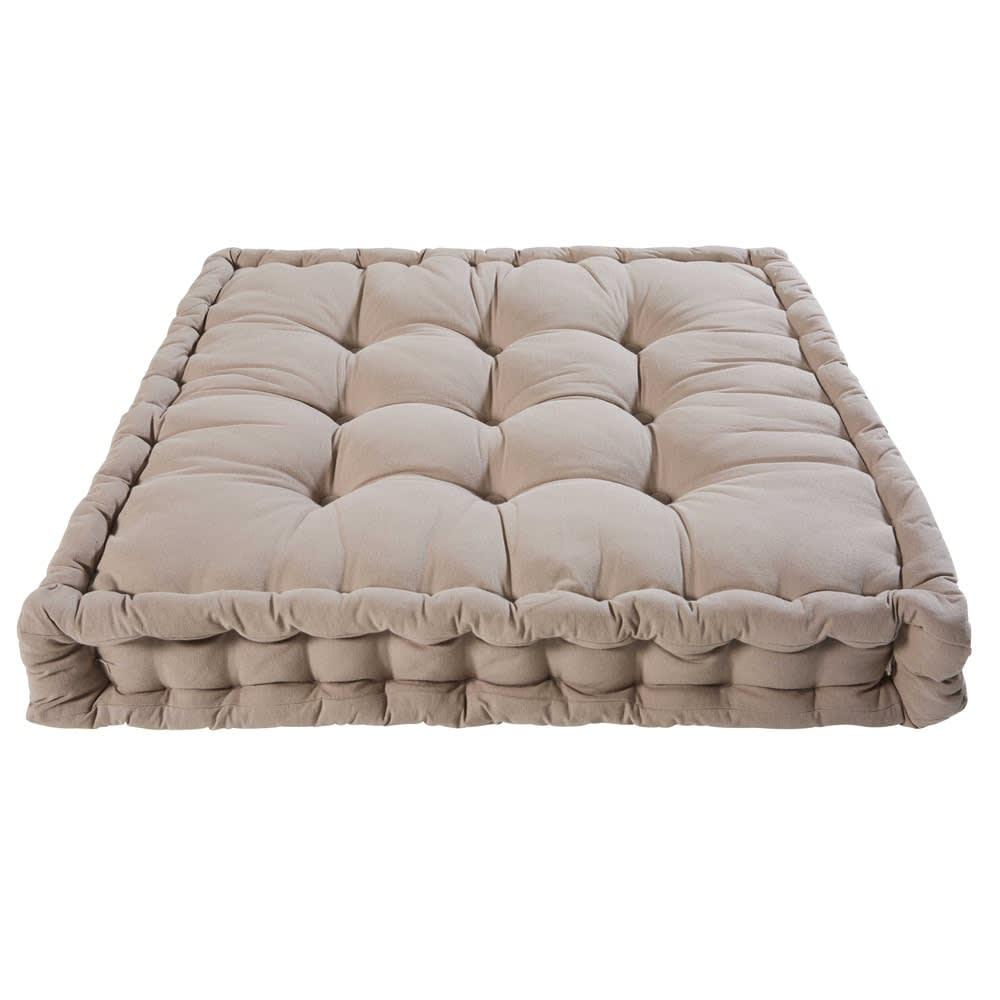 matelas en coton taupe 90x90cm maisons du monde. Black Bedroom Furniture Sets. Home Design Ideas