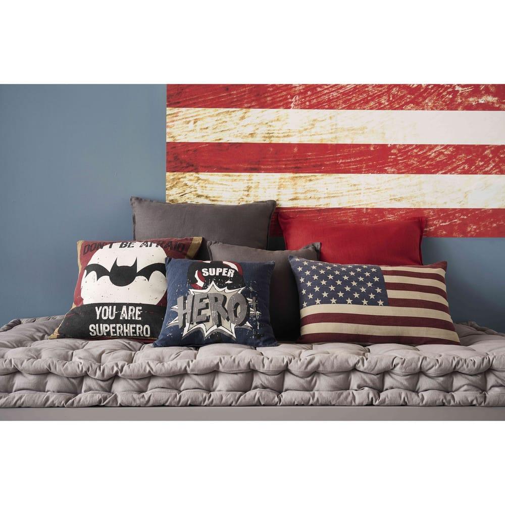 matelas enfant en coton gris 90x190 maisons du monde. Black Bedroom Furniture Sets. Home Design Ideas