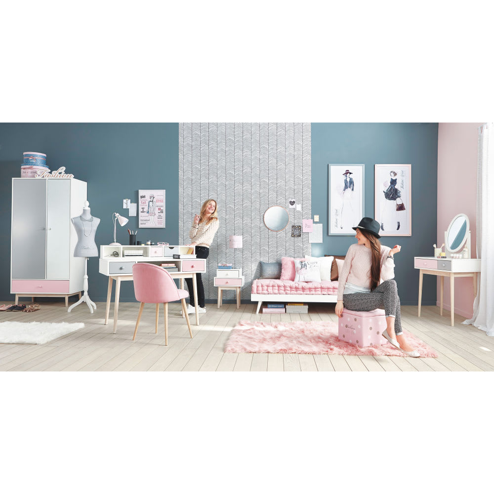matelas enfant en coton rose 90x190 maisons du monde. Black Bedroom Furniture Sets. Home Design Ideas