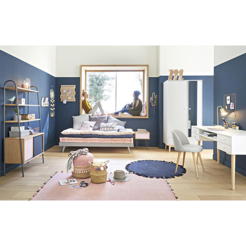 matelas gaddiposh en coton bleu 90x190 jeans maisons du. Black Bedroom Furniture Sets. Home Design Ideas