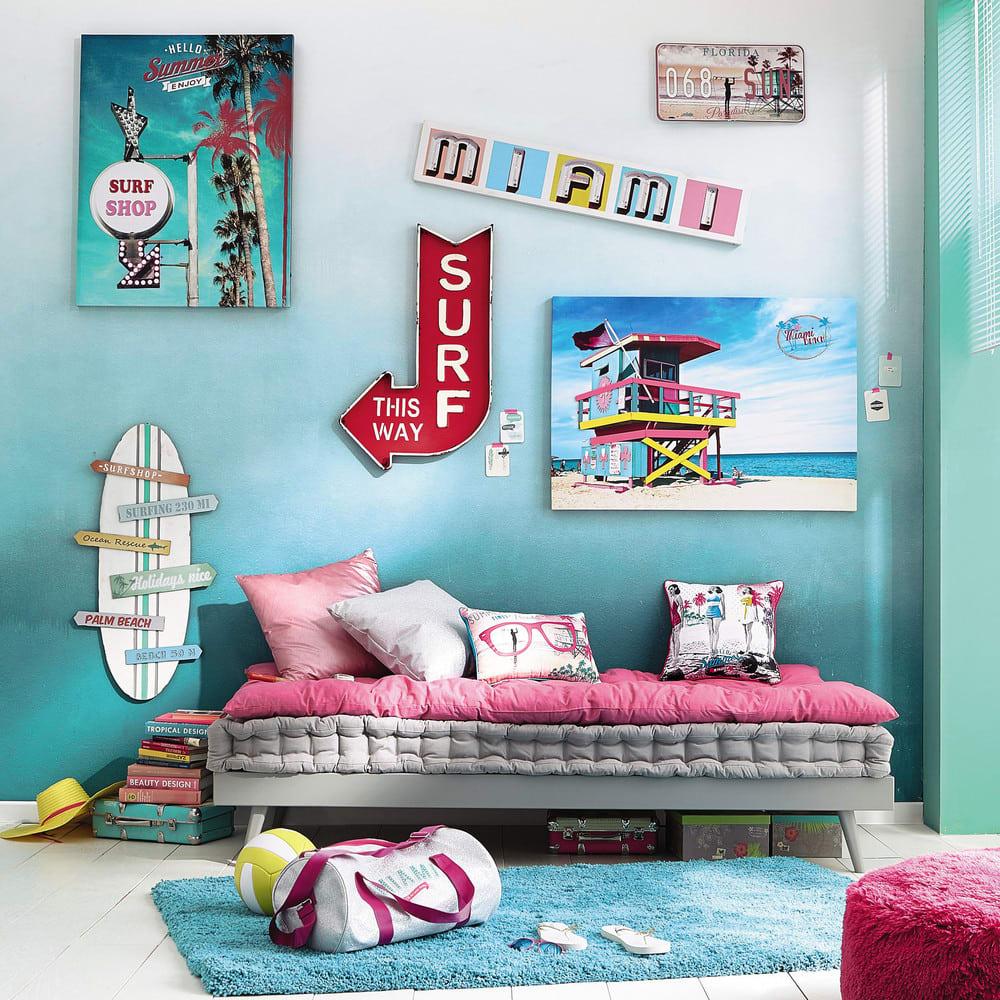matelas gaddiposh en coton fuchsia 90x190 sixties. Black Bedroom Furniture Sets. Home Design Ideas