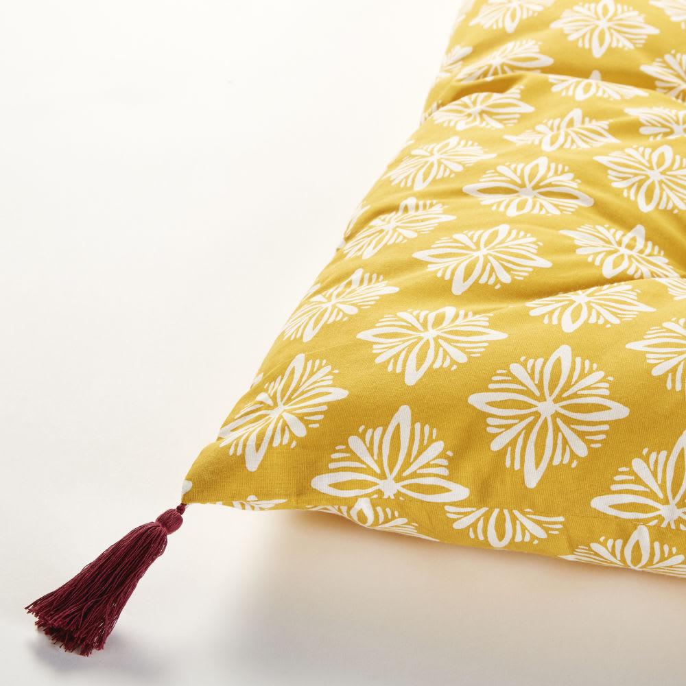 matelas gaddiposh en coton jaune motifs graphiques blancs. Black Bedroom Furniture Sets. Home Design Ideas