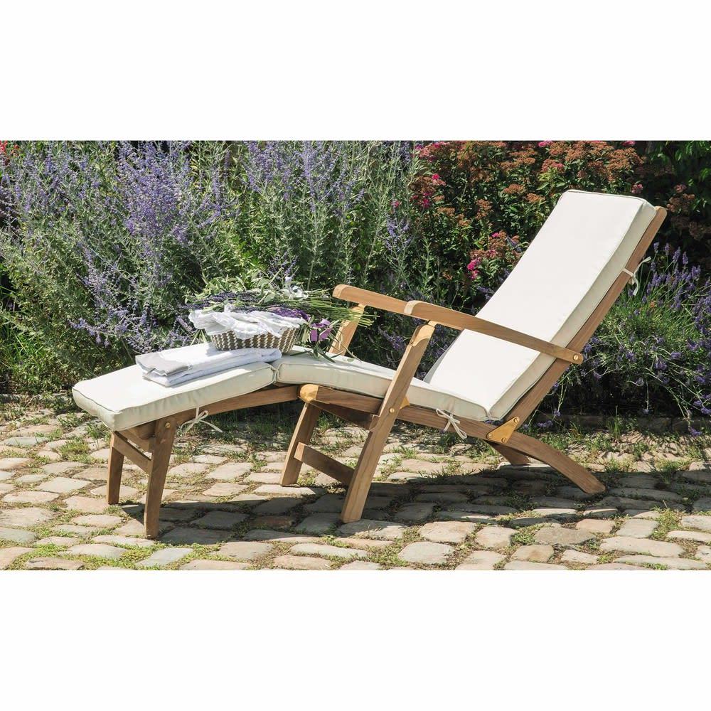 matelas pour chaise longue cru ol ron maisons du monde. Black Bedroom Furniture Sets. Home Design Ideas